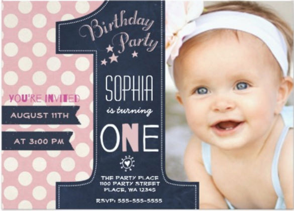 1 birthday invitation templates ; first_birthday_invitations_with_an_awesome_atmosphere_14_8