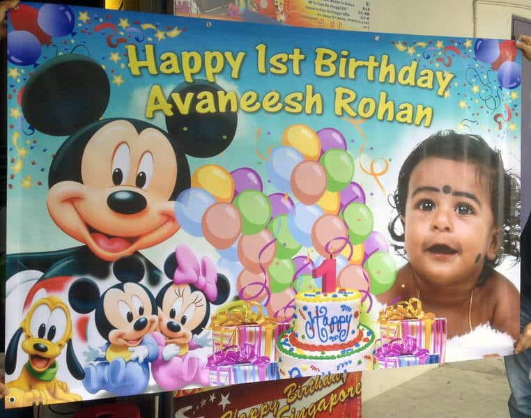 1 year birthday banner ; Mickey-mouse-birthday-banner