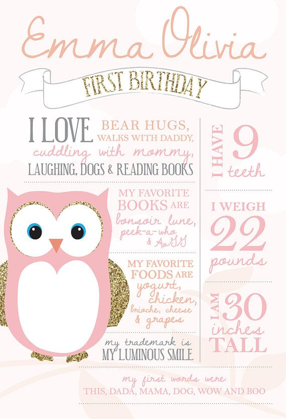 1 year birthday poster ; 0d1fe3c1e1a2de874f79823e51881da2--owl-first-birthday-owl-parties
