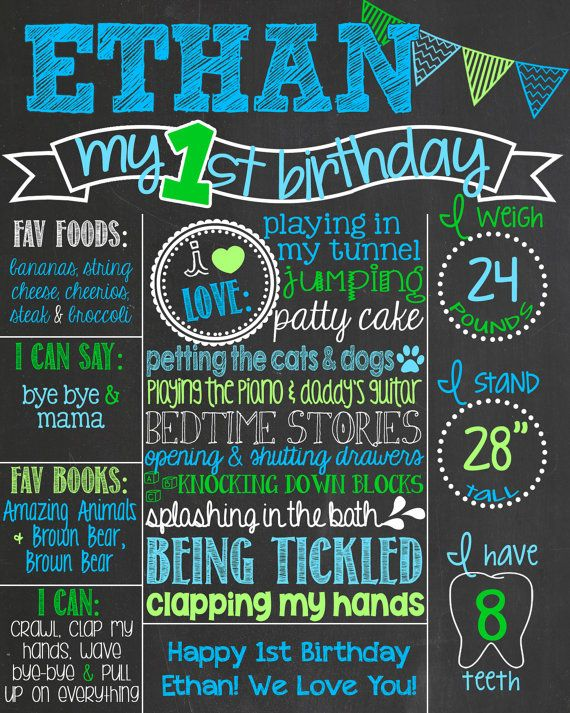 1 year birthday poster ; 1st-birthday-chalkboard-poster-template-best-25-first-birthday-board-ideas-on-pinterest-first-birthday