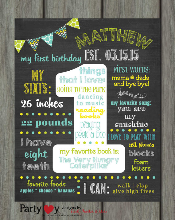 1 year birthday poster ; 2bec894a737609604b3e34ed22a3fa92