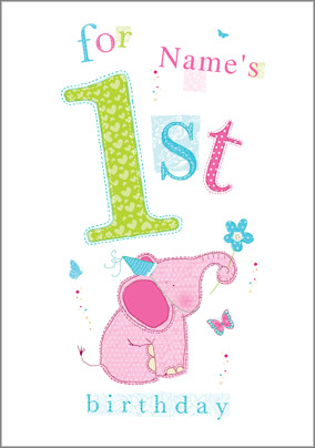 1 year birthday poster ; Card_Abacus_BDay15_3912_Elephant_P
