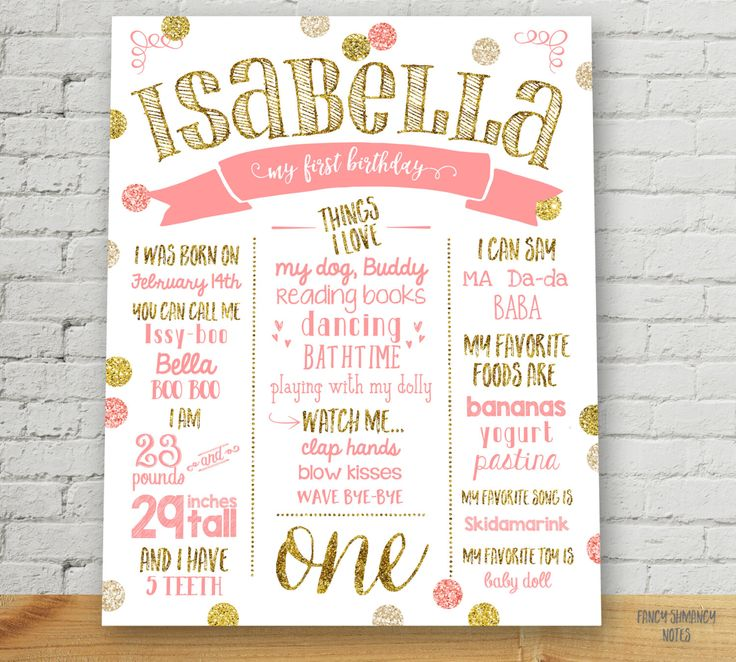 1 year birthday poster ; best-25-first-birthday-posters-ideas-on-pinterest-diy-1st-1st-birthday-poster-1