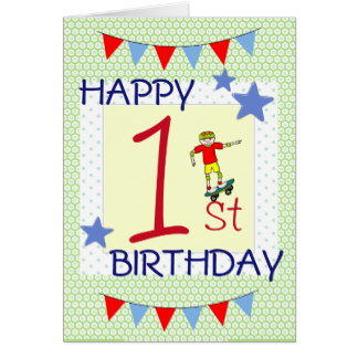 1 year birthday poster ; childrens_birthday_card_boy_1_year_old-rb91a0d68a5544b1391635ca355bc3b4b_xvuat_8byvr_324