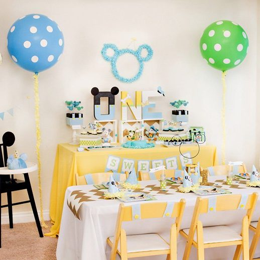 1 year old birthday activities ; Creative-Mickey-Mouse-1st-Birthday-Party-Ideas-e1485150324475