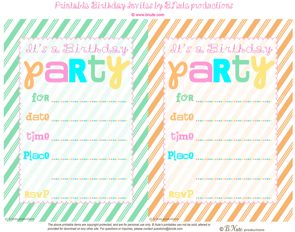 10 Year Old Birthday Invitations Stylist Design Blank To Print Free Printable Doll Party 0 7