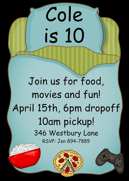 10 year old boy birthday invitations ; cb65f33911f5a8144caaea78831afb3d