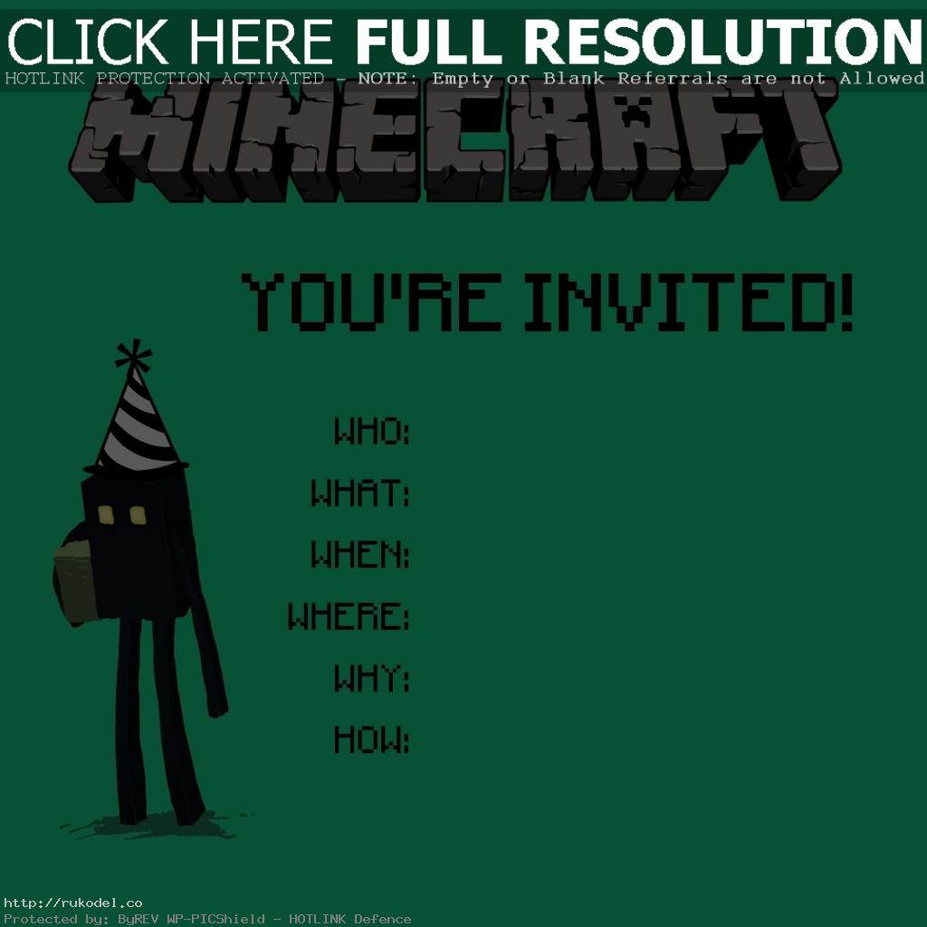10 year old boy birthday invitations ; minecraft-invitation-1-1024x1024-in-birthday-card-maker