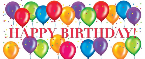 10th birthday banner ; Colorful-Happy-Birthday-Banner-Template