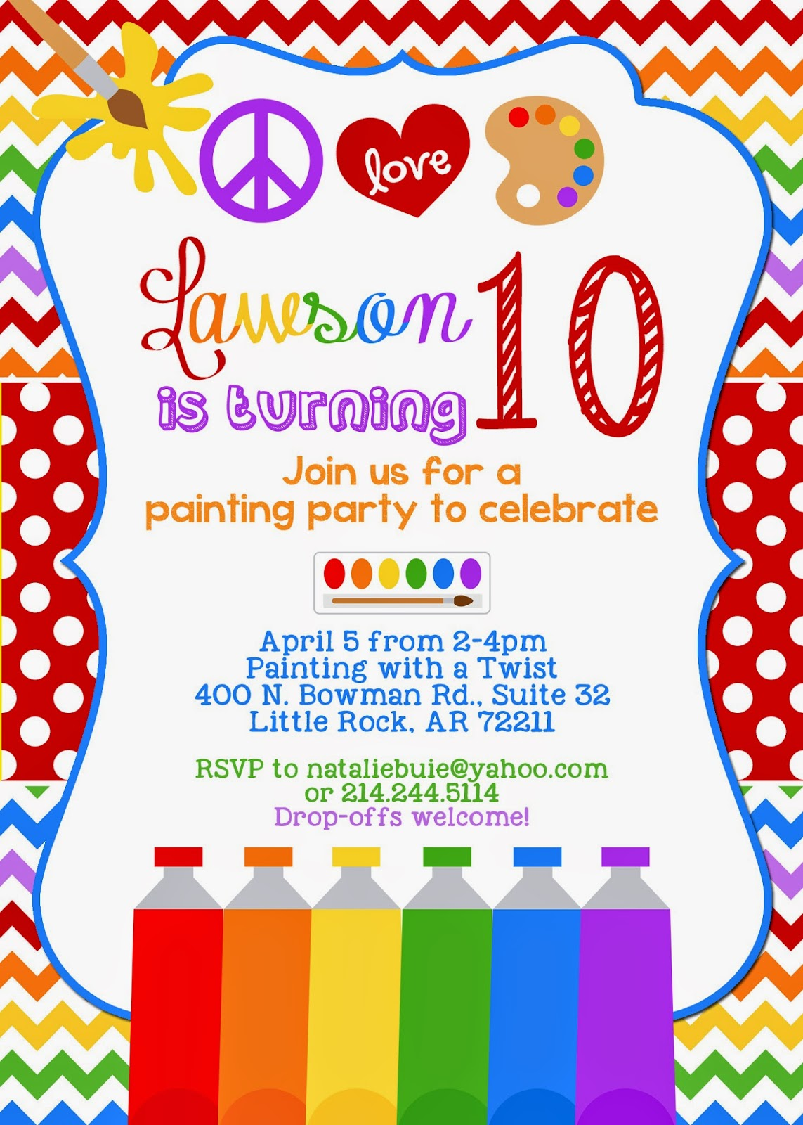 10th birthday party invitations ; the_buie_blog__lawsons_10th_birthday_party_1