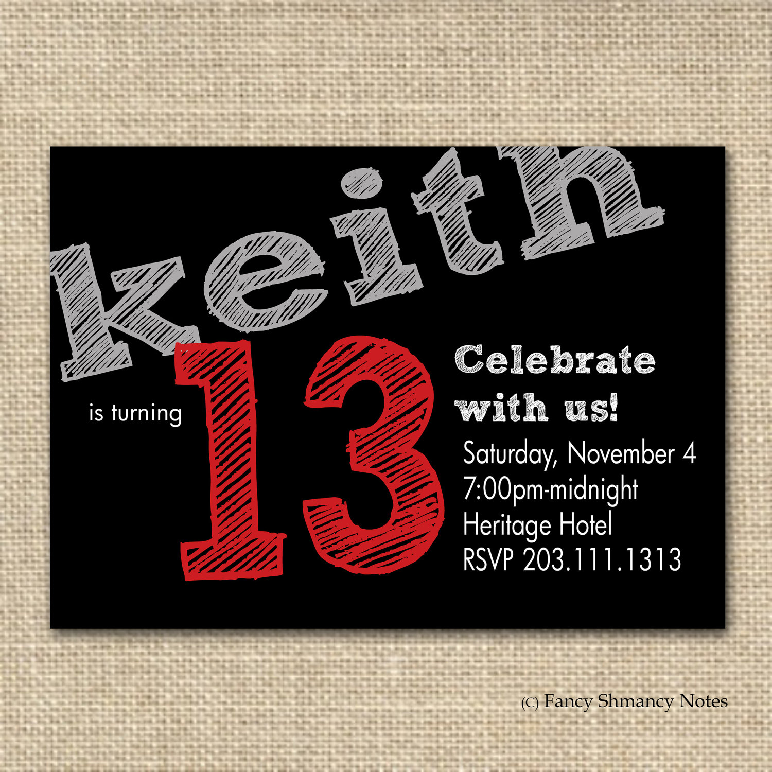 13 year old birthday invitations free printable ; 0a3a13f50ea1e0b393d5b31e2069c91b