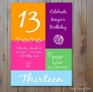 13 year old birthday invitations free printable ; 13-years-old-birthday-party-invitations-drevio-invitations-design-11-year-old-birthday-invitations-303x300