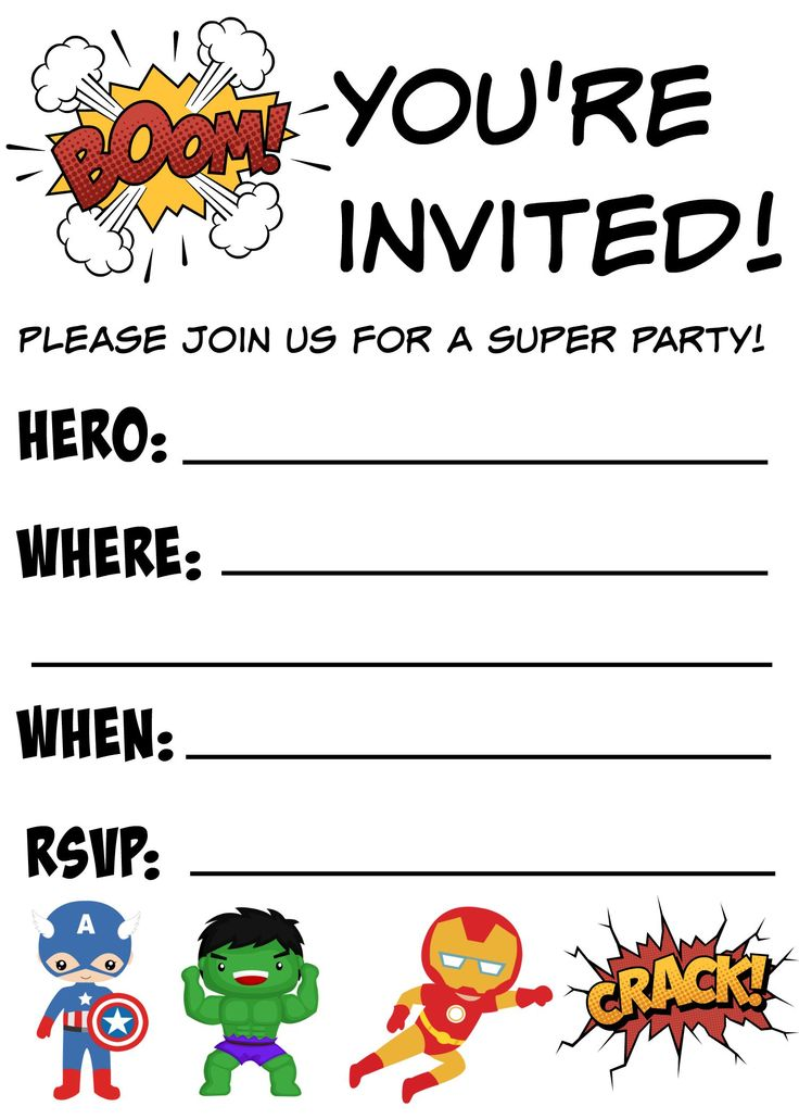 13 year old birthday invitations free printable ; 268638fdaa18fc91d158d6b0fabcfdb2--free-printable-birthday-invitations-free-superhero-party-invitation-template