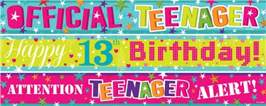 13th birthday banners ; 1