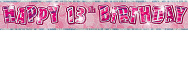 13th birthday banners ; 13th-birthday-banner-12ft-each--4106-p