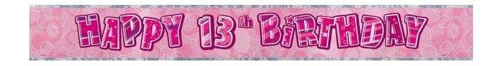 13th birthday banners ; 194488