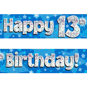 13th birthday banners ; blue-age-13-banner-big