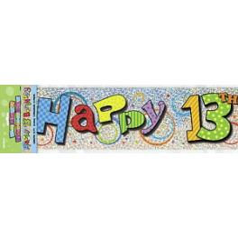 13th birthday banners ; happy-13th-birthday-banner-