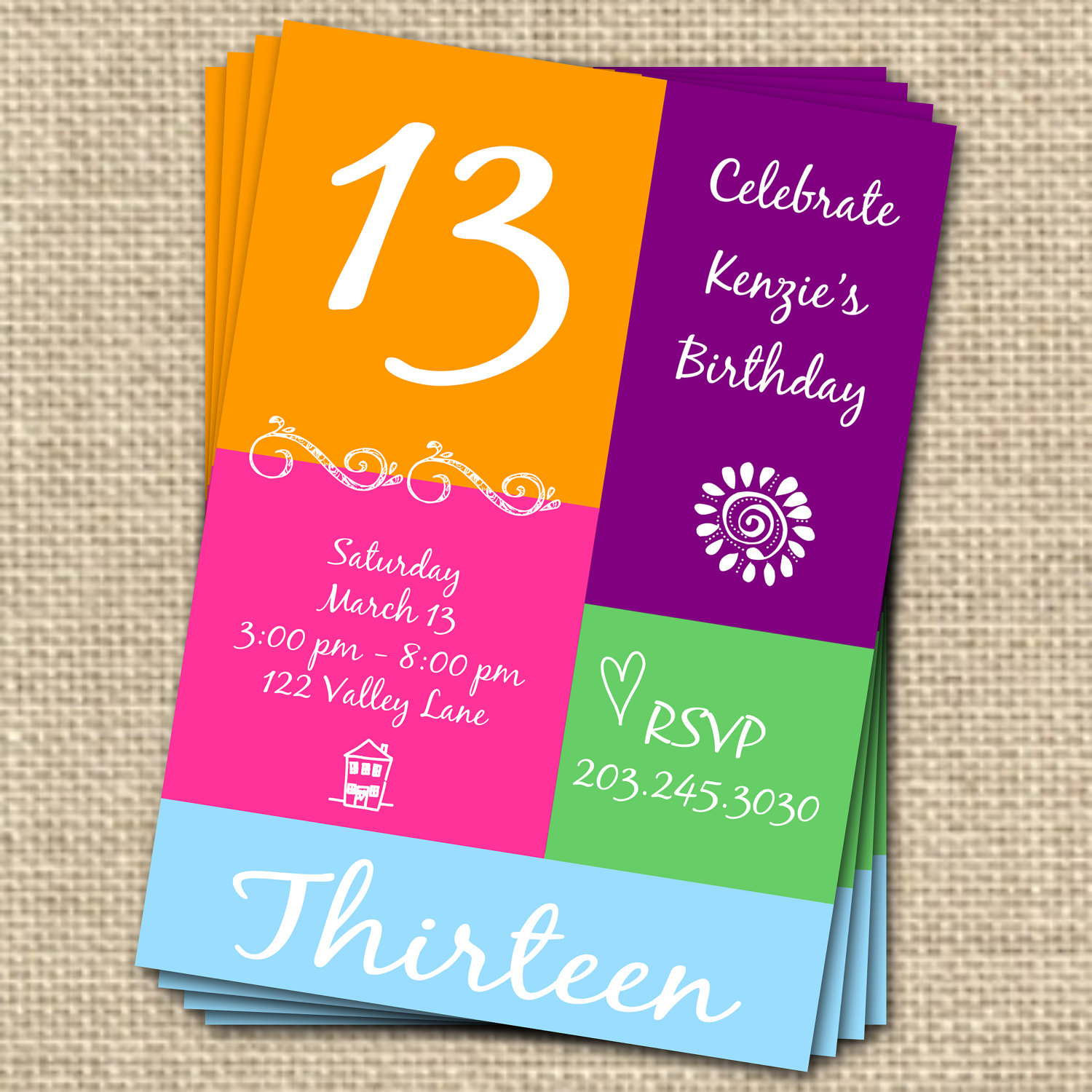 13th birthday invitations ; 13Th-Birthday-Party-Invitations-Templates-to-get-ideas-how-to-make-your-own-birthday-Invitation-design-1
