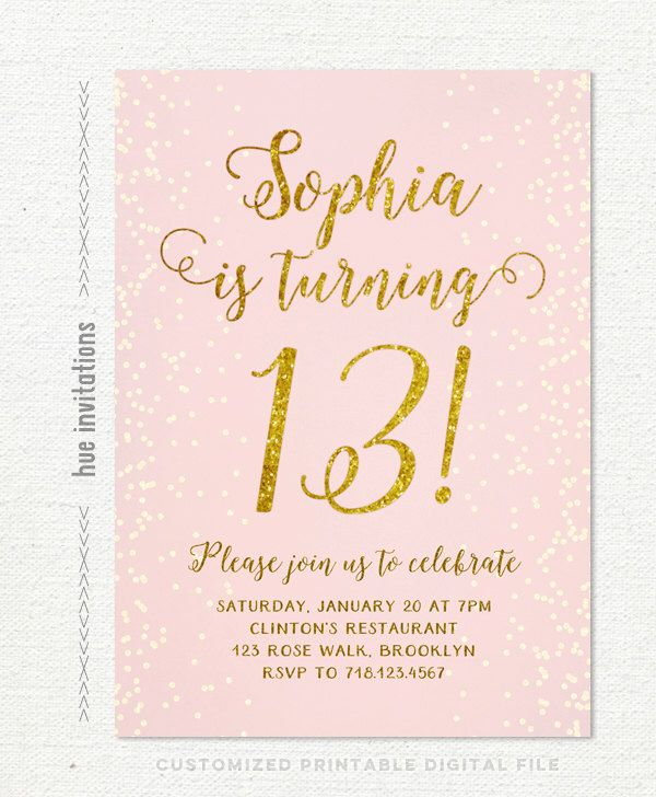 13th birthday invitations ; 4e10b1ec9bb6941281a263c64ee56c4c--teen-birthday-parties-th-birthday