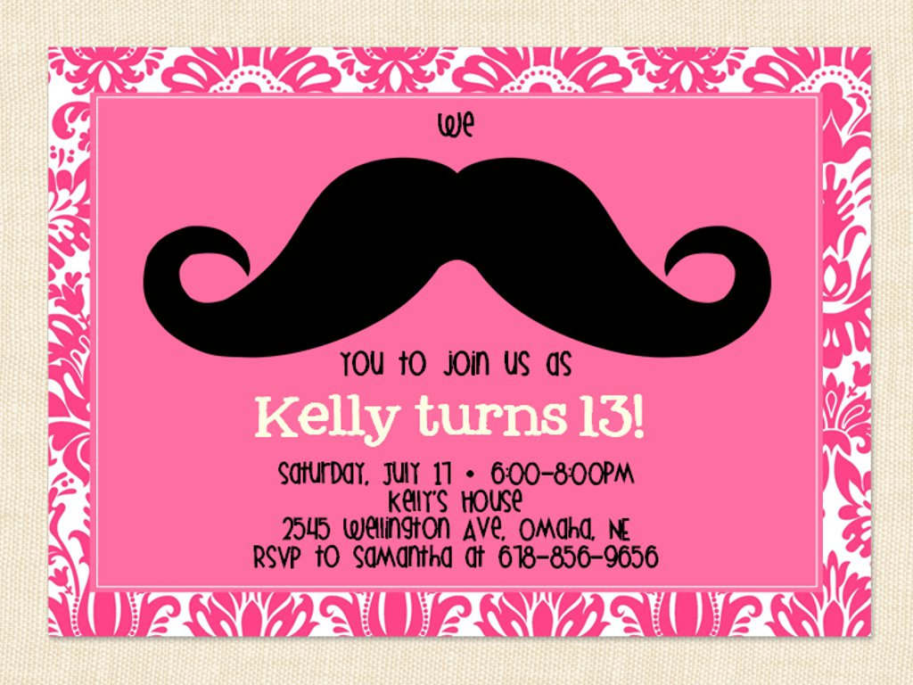 13th birthday invitations ; faac47cc7818830875d5ed0ab3bb6d2f