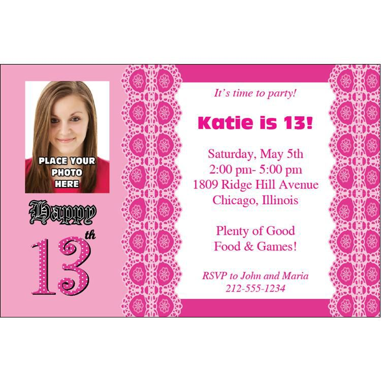13th birthday invitations ; girls-13th-birthday-party-invitations-13th-birthday-party-invitations-theruntime-printable