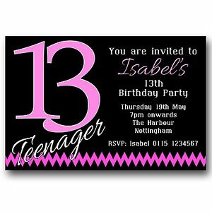 13th birthday invitations ; s-l300