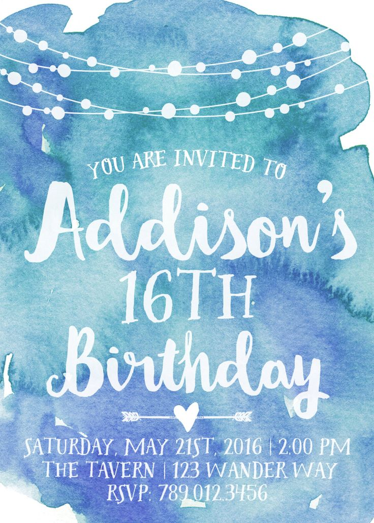 13th birthday invitations printable ; 0ec69313d2692c6a27fe51b7ab80a6b7--th-birthday-parties--birthday-party