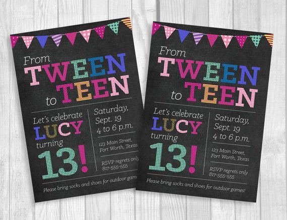 13th birthday invitations printable ; girls-13th-birthday-party-invitations-best-25-teen-birthday-invitations-ideas-on-pinterest-11th-printable