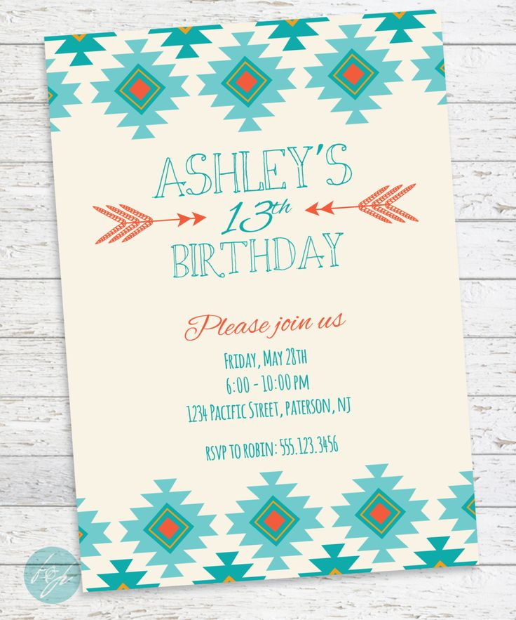 13th birthday invitations printable ; teen-birthday-invitations-With-ideas-Birthday-sensationell-model-1