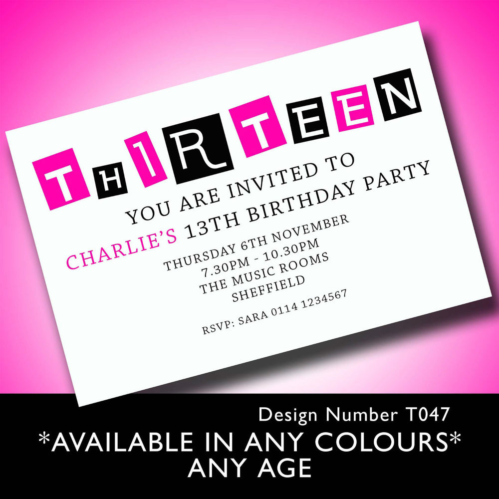 13th birthday party invitation templates ; 13th-birthday-party-invitations-and-get-ideas-how-to-make-your-Party-invitation-with-fantastic-appearance-1