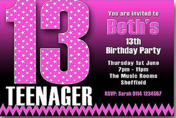 13th birthday party invitations ; 13th-birthday-party-invitations-14-teenage-birthday-invitations-free-psd-vector-eps-ai-template