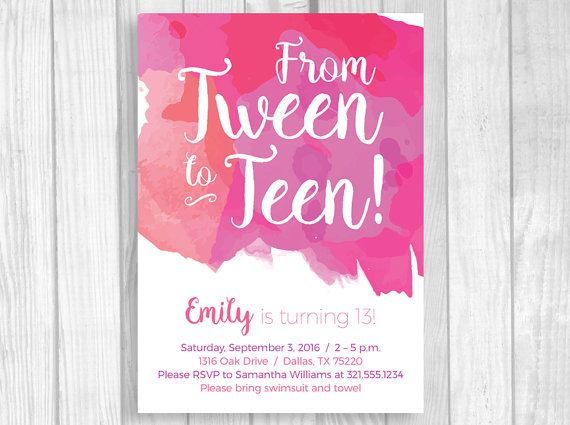13th Birthday Party Invitations Ccf0f89f8efec8e7e7bb3548175eafff Pink