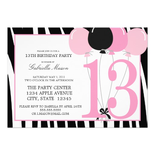 13th birthday party invitations printable ; Elegant-13Th-Birthday-Party-Invitations-As-An-Extra-Ideas-About-Birthday-Invitations-Free