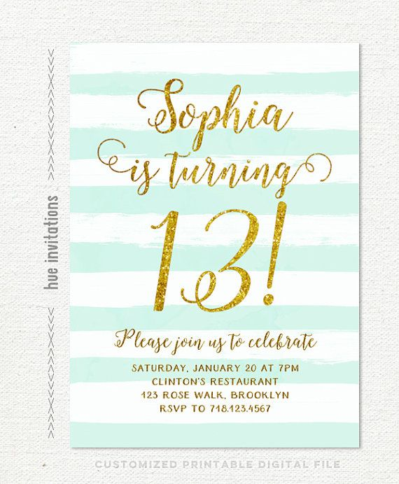 13th birthday party invitations printable ; girls-13th-birthday-party-invitations-best-25-teen-birthday-invitations-ideas-on-pinterest-11th-download