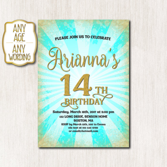 14th birthday invitations ; 87888f661233cfa14a6a76162b38f48b