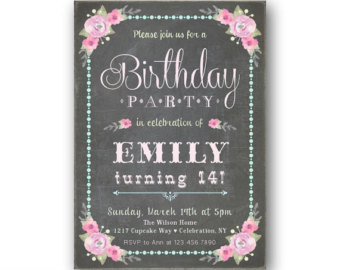 14th birthday invitations ; il_340x270