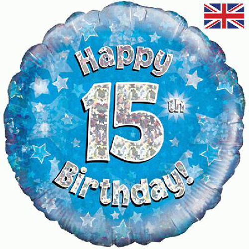 15th birthday banner ; 227956-15thBlue-500