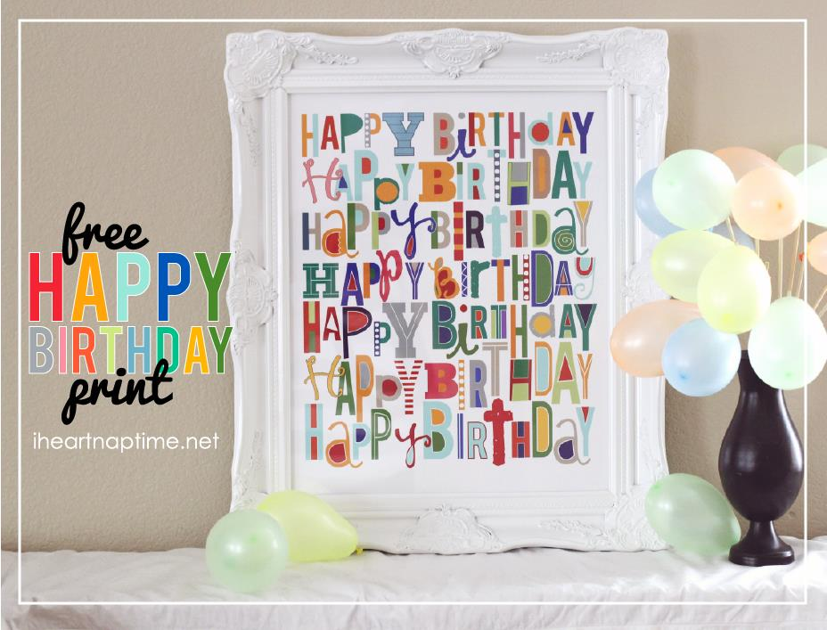 15th birthday banner ; this-print-is-perfect-to-use-to-add-color-to-birthday-celebrations-free-at-i-heart-naptime