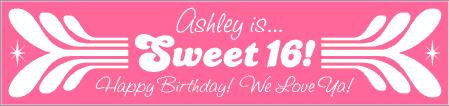 16th birthday banners ; BD16116-1