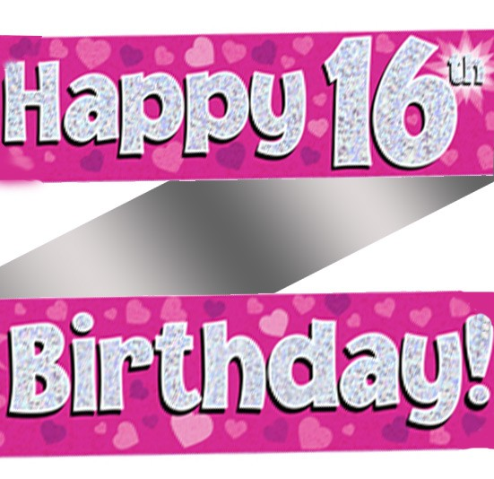 16th birthday banners ; Happy-16th-Birthday-Banner