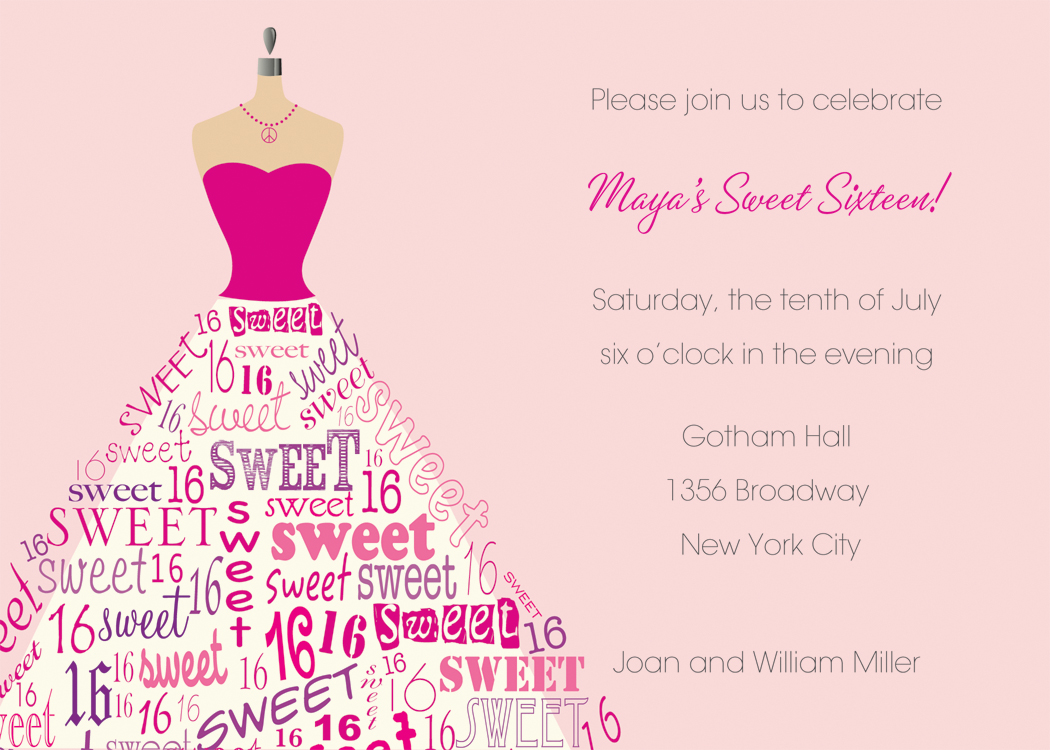 16th birthday invitation templates ; 16Th-Birthday-Invitations-and-get-inspired-to-create-your-Birthday-invitation-with-smart-design-2