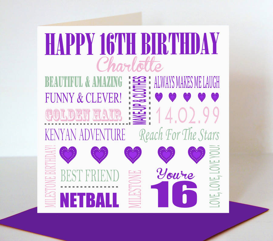 16th birthday poster ; original_personalised-16th-birthday-card-for-her