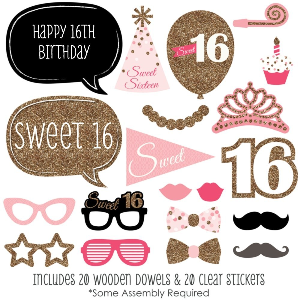 16th birthday stickers ; 71%252Bgwpa6EfL