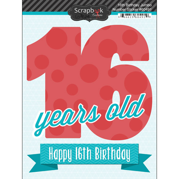 16th birthday stickers ; SBC_spc-60491