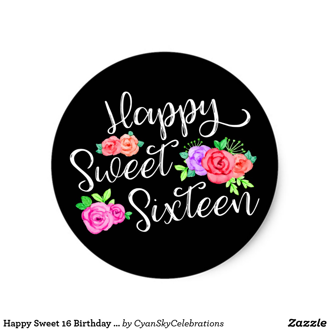 16th birthday stickers ; bc2679a4f0660c05d4dbd1f77c755bcd