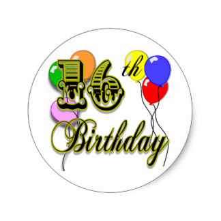 16th birthday stickers ; happy_16th_birthday_gifts_and_birthday_apparel_classic_round_sticker-r655f51dd7fad45ceb0b05ec37a711bd4_v9waf_8byvr_324