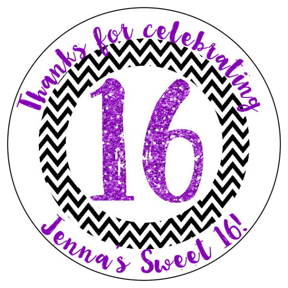 16th birthday stickers ; il_570xN
