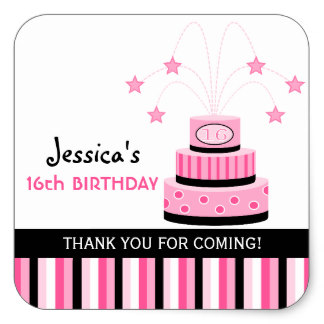 16th birthday stickers ; pink_black_16th_birthday_cake_stickers-r5d7dec08c8824ff58684891a491ac302_v9i40_8byvr_324