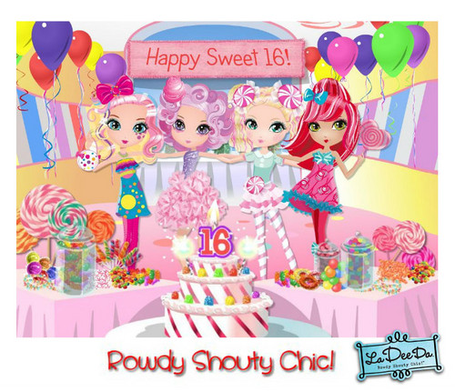 16th birthday wallpaper ; Dee-s-Sweet-16th-Birthday-Party-la-dee-da-31740548-500-430